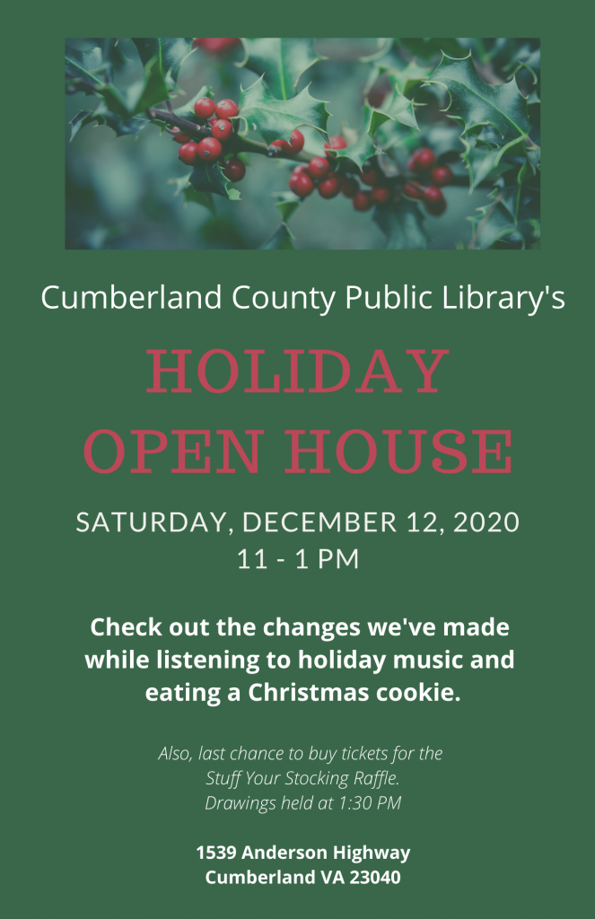 Holiday Open House (tentative) @ Cumberland Co. Library